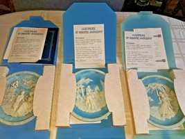 """Vintage 1987 Set of 3 """"The Love Sonnets of Shakespeare"""" Collector Plates -w/COAs - $79.19"""