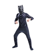 Adult kids Black Panther Cosplay Halloween Costumes With Masks - $30.62