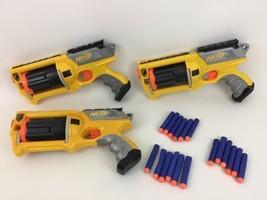 Maverick Rev-6 Revolver N-Strike Nerf Lot (3) Dart Guns Hasbro w/ Darts ... - $39.55