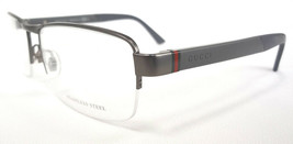 GUCCI Men's Frame Glasses GG2258 STAINLESS STEEL Grey MADE IN ITALY - New! - $235.00