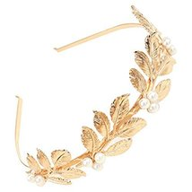 Elegant Gold Beads Leaves Hair Band Hair Accessories Headband Headdress