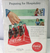 "Vintage 1948 Color Coca-Cola Advertisement - ""Preparing For Hospitality"" - $3.95"
