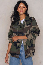 New Women's French army F2 camo camouflage jacket coat surplus military - $35.00