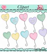 Conversation Hearts Balloons Clip Art - $1.35