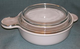 CORNING WARE PYREX WHITE GRAB IT Bowl P-240-B with Glass Lid P-240-C VGUC - $14.95