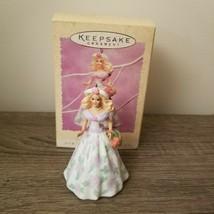 Hallmark 1994 Springtime Barbie Easter Ornament Keepsake 1st Series Orig... - $14.85