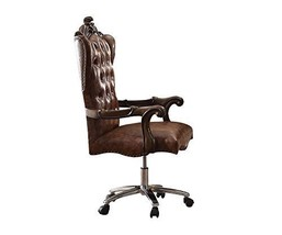 Acme Versailles Light Brown Faux Leather Chair With Swivel And Lift - $671.19