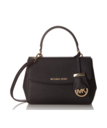 MICHAEL KORS Ava Small Saffiano Leather Top Handle 30T5GAVS2L Black Colo... - $229.00