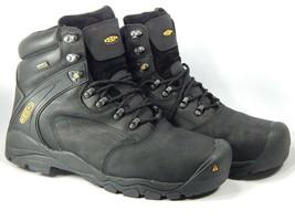 """Keen Louisville 6"""" Size 13 2E WIDE EU 47 Mens Steel Toe Utility Work Boots Black"""
