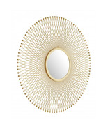 Offex Living Room Decorative Round Wall Mirror - Gold - $290.00