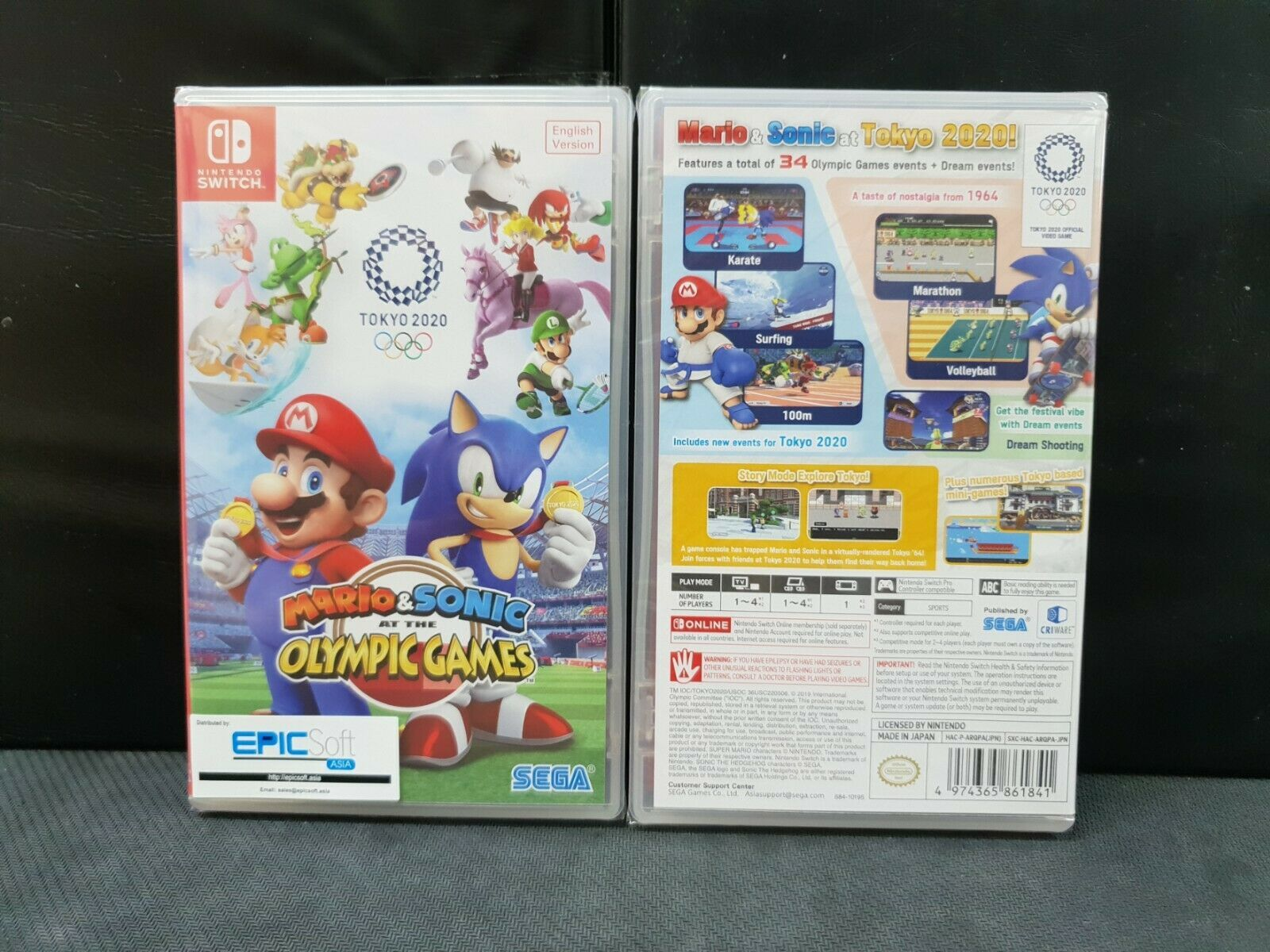 (ASIA ENGLISH) Nintendo Switch Mario & Sonic Olympic Games Tokyo 2020(Brand New)