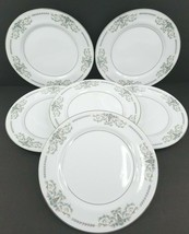 6 Mikasa Margaret 5555 Dinner Plates Fine China Blue Flowers Plate Patte... - $33.33