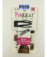 PINCCAT 4 COUNT HAIR SNAP CLIPS WITH COMB FOR ALL DAY HOLD # P 059 - $1.45