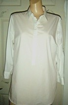 MOSSIMO 3/4 SLEEVE WHITE PULLOVER BLOUSE/SHIRT SIZE L - $17.41