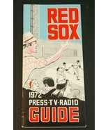 1972 Boston Red Sox Baseball Media Guide Player Roster Schedule - $28.71