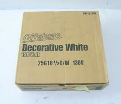 Case of 25 Philips 168476-25G16-1/2/C/W Globe Decorative White Light Bulb, E12 - $59.99