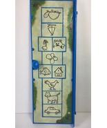 Cranium Playground Board Game Hopscotch Door Panel Blue Replacement Part... - $8.90