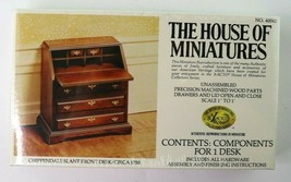 House Of Miniatures Chippendale Slant Front Desk Dollhouse Furn Kit 4004... - $7.95