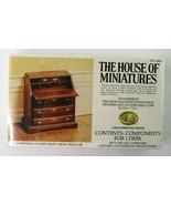 House Of Miniatures Chippendale Slant Front Desk Dollhouse Furn Kit 4004... - $7.95