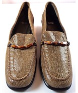 Stuart Weitzman Pumps Womens Brown Animal Print Slip On Shoes Size 10 AA - $94.00