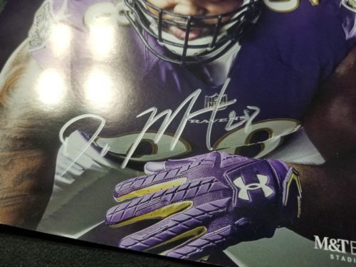 Oakland Raiders Baltimore Ravens Doug Martin GAME DAY Program Autograph image 2
