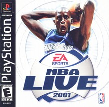 NBA Live 2001 - PlayStation 1  - $12.99