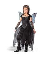 Girls Large 12 - 14 Goth Black Spiderweb Spider Fairy Butterfly Princess... - $34.74