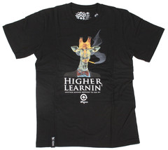 LRG Higher Learnin Black or Forest Green Men's Graphic T-Shirt Small NWT image 1