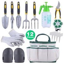 Sonyabecca 12pcs Garden Tools Set Gardening Gift Kit Ergonomic Gardening... - $45.17