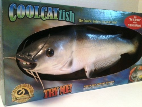 "14"" Singing Cool Catfish (Sings ""Bad To The Bone"" & 20 Hysterical Phrases) by Ge"