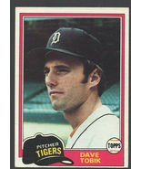 Detroit Tigers Dave Tobik 1981 Topps Baseball Card 102 ex mt - $0.50