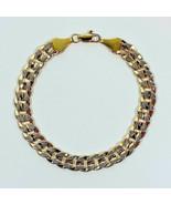 IB02 Hip Hop Men's 14K Gold Plated 8 in Chain Cuban Link Bracelet 10 mm ... - $9.49