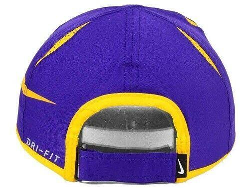 LSU Tigers NCAA Nike Big Swoosh Aerobill Adjustable Hat