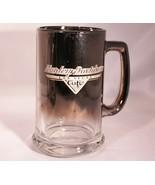 Harley Davidson Cafe Las Vegas Glass Beer Mug Stein Etched Smoke Mirrored  - $12.59