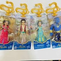 "4 Disney Aladdin Figures Princess Jasmine Genie 3.5"" Plastic Doll NEW - $24.74"