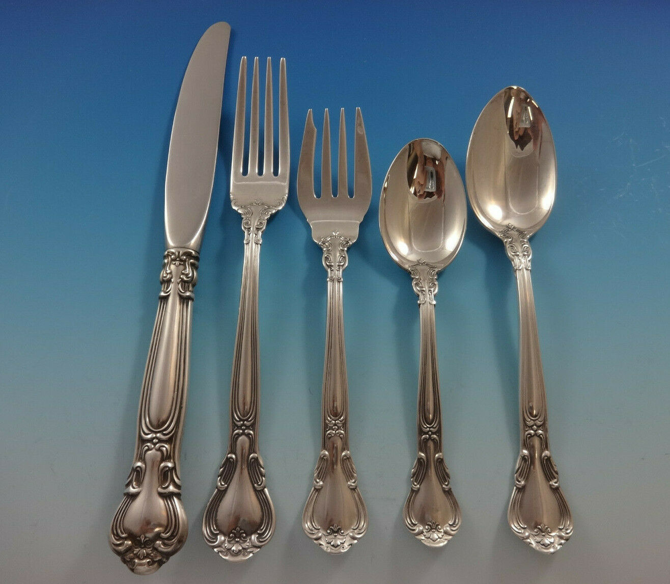 Chantilly by Gorham Sterling Silver Place Size Flatware Set 8 Service 42 Pcs image 3