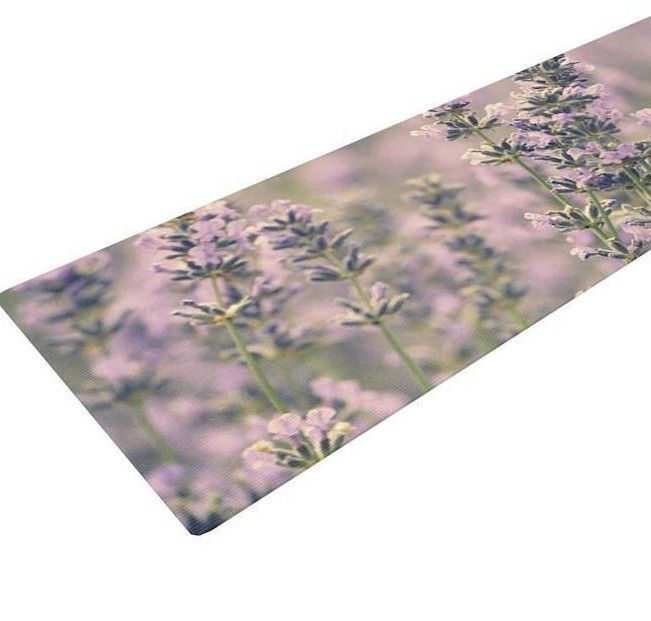 KESS InHouse Yoga Mat Robin Dickinson Smell the Flowers Lavender  MSRP 99.