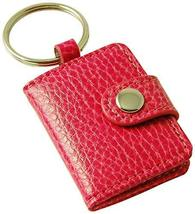 Budd Leather Pebble Grained Leather Photo Key Ring, Mini, Pink - $12.88