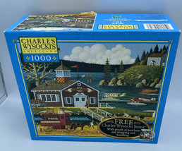Charles Wysocki 1000 Piece Jigsaw Puzzle Game Black Birds Roost at Mill ... - $24.26