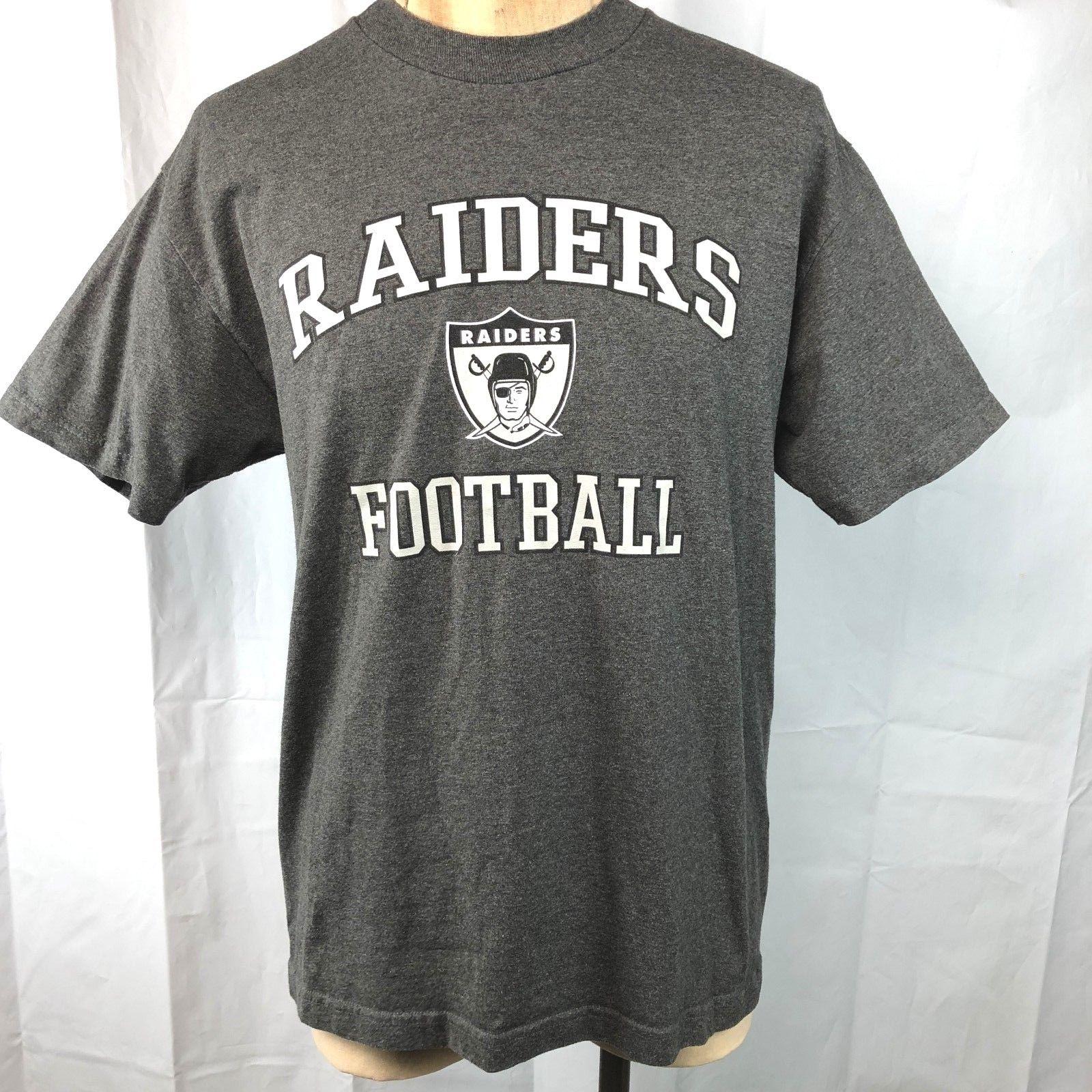 Raiders Football NFL Team Apparel L T-Shirt Large Mens Oakland or Los Angeles image 2