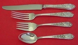 Rose By Kirk Sterling Silver Dinner Size Place Setting(s) 4pc - $281.30