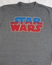 Star Wars Red And Blue Logo T-Shirt L - $10.00