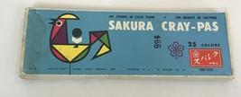 Vintage Sanford Sakura Crayola Cray-Pas Oil Pastels Japan Oil Colors  - $24.74