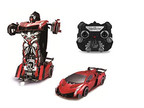 Park10 Toys Transforming RC Remote Control Robot Drifting Sports Race Car Toy w/