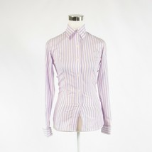 Light blue pink striped 100% cotton AUSTEN BROTHERS button down blouse 6 - $54.99