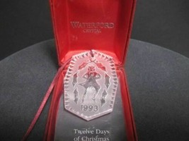 1993 Waterford glass Christmas ornament decoration - $32.41