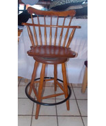 Maple Spindle Back Swivel Bar Stool by S Bent Bros  (SC246) - $399.00