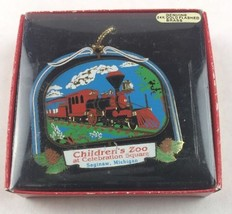 Nations Treasures Children's Zoo Saginaw Michigan Brass Metal Ornament Souvenir - $15.00