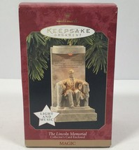 1997 Hallmark Keepsake Christmas Ornament Music & Light LINCOLN MEMORIAL... - $12.03