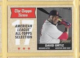 2017 Topps Heritage The Topps News Davis Ortiz #361 Red Sox - $0.99